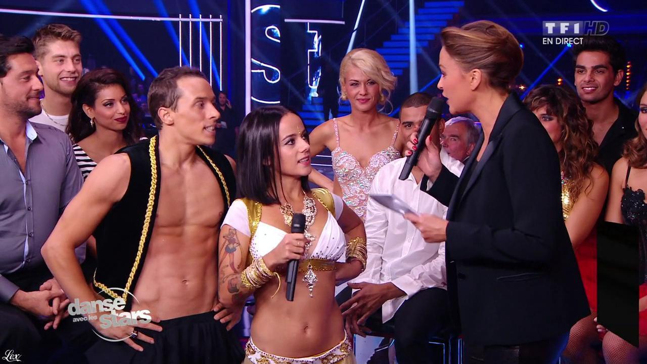 Sandrine Quétier et Alizée dans Danse avec les Stars. Diffusé à la télévision le 12/10/13.