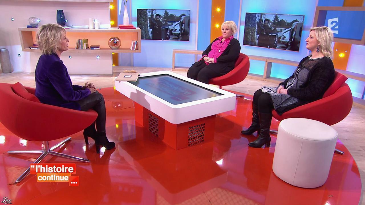 Sophie Davant dans Toute une Histoire. Diffusé à la télévision le 02/02/15.