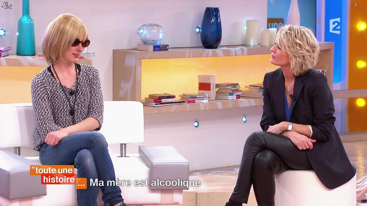Sophie Davant dans Toute une Histoire. Diffusé à la télévision le 03/02/15.