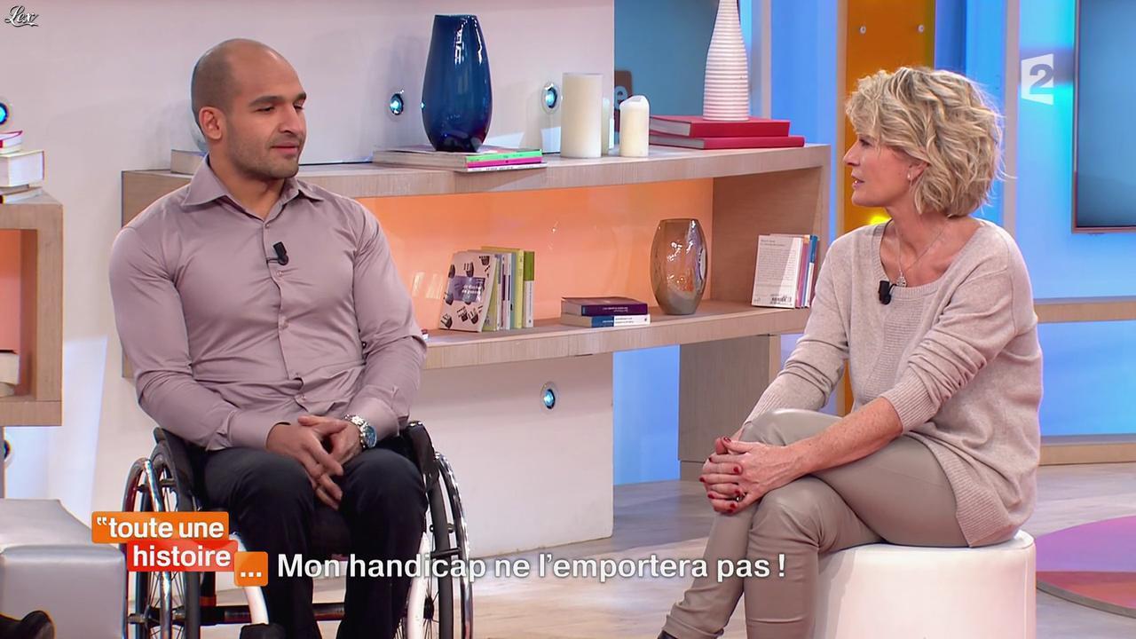 Sophie Davant dans Toute une Histoire. Diffusé à la télévision le 29/01/15.