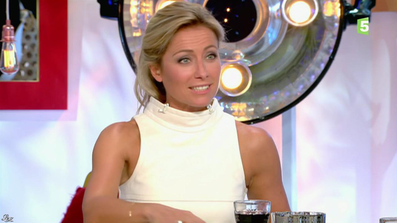 Anne-Sophie Lapix dans C à Vous. Diffusé à la télévision le 30/10/15.