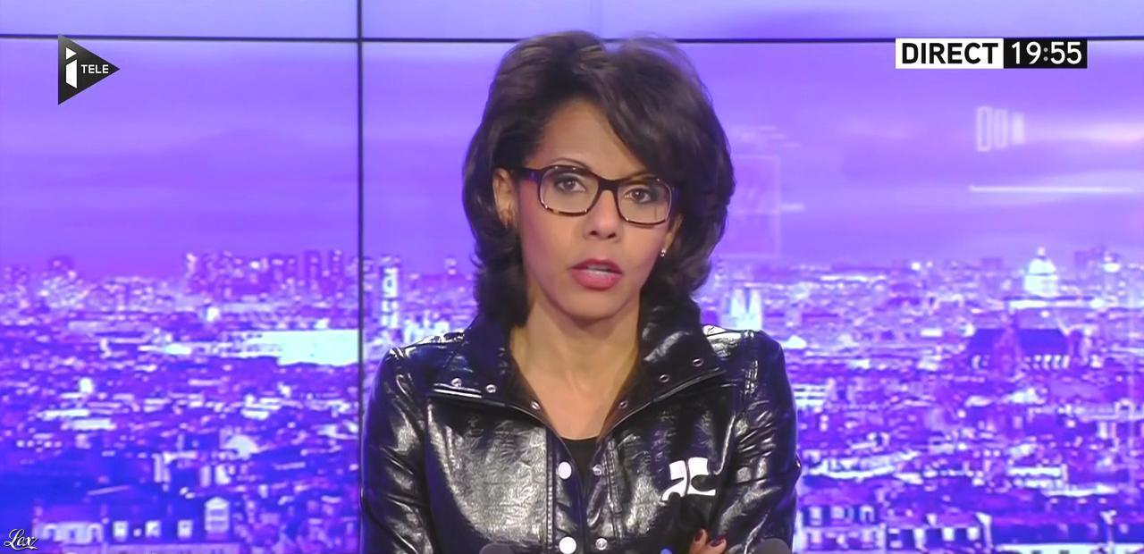 Audrey Pulvar dans le JT. Diffusé à la télévision le 31/12/15.
