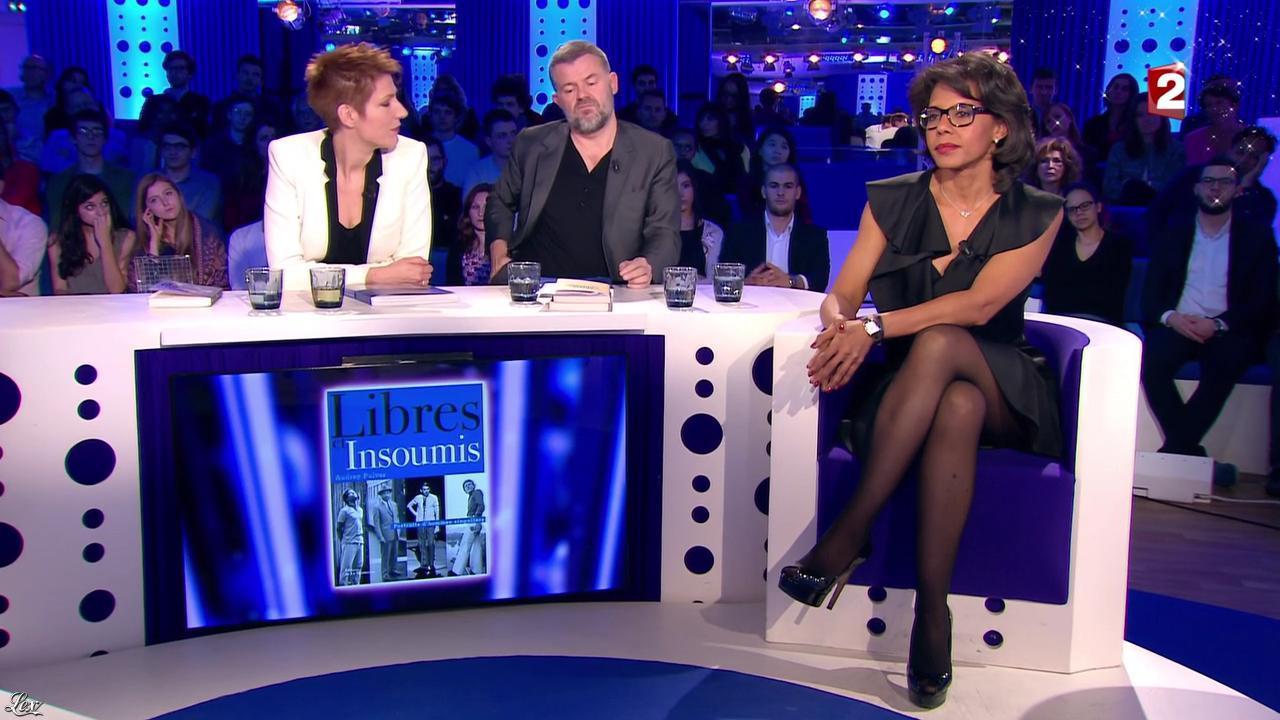 Audrey Pulvar dans On n'est pas Couché. Diffusé à la télévision le 19/12/15.