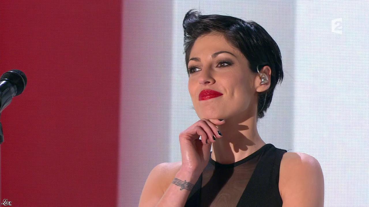 Jennifer Ayache dans Vivement Dimanche. Diffusé à la télévision le 20/03/16.