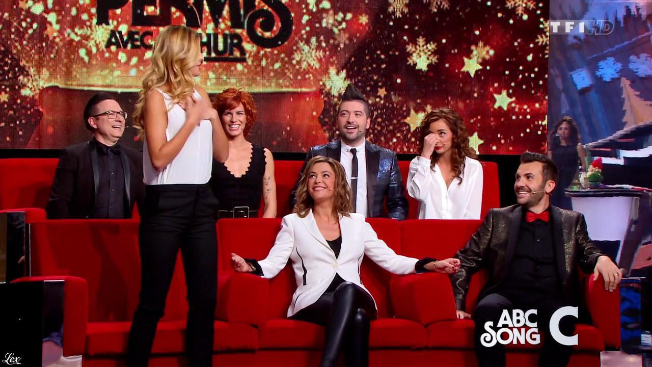Sandrine Quétier et Priscilla Betti dans le 31 Tout Est Permis. Diffusé à la télévision le 31/12/15.