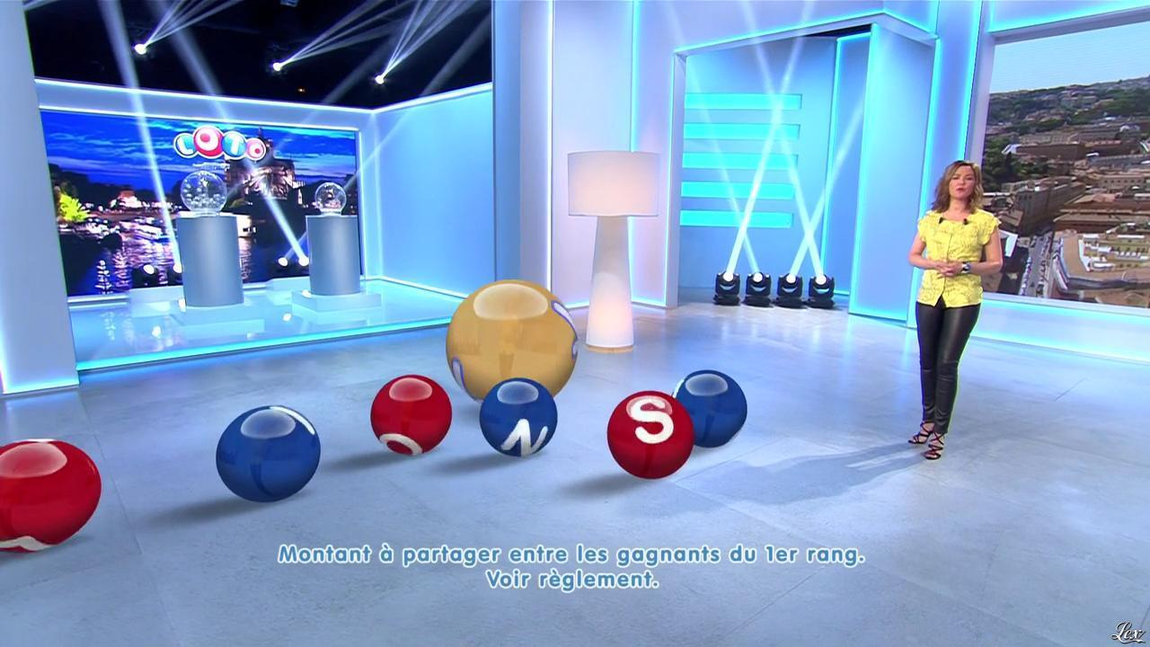 Sandrine Quétier lors du Tirage du Loto. Diffusé à la télévision le 26/03/16.