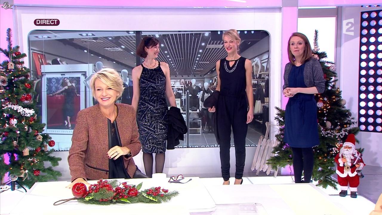 Sophie Davant dans c'est au Programme. Diffusé à la télévision le 18/12/15.
