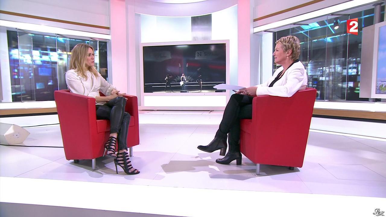 Véronic Dicaire au JT de 13h. Diffusé à la télévision le 04/01/16.