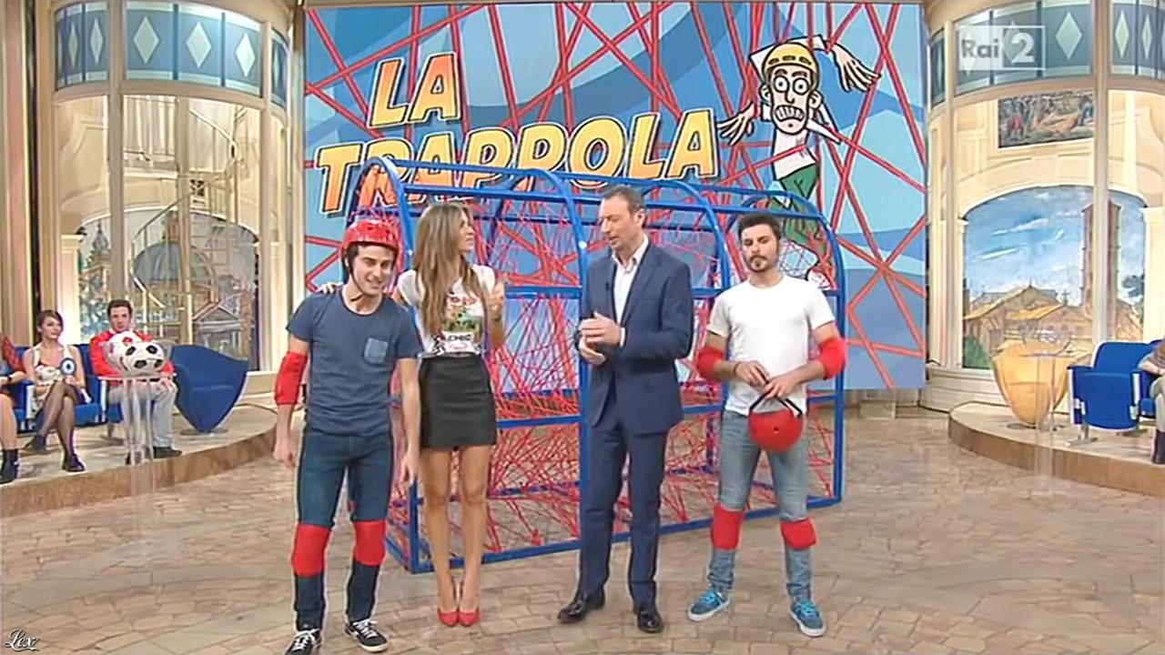 Alessia Ventura dans Mezzogiorno in Famiglia. Diffusé à la télévision le 01/02/15.