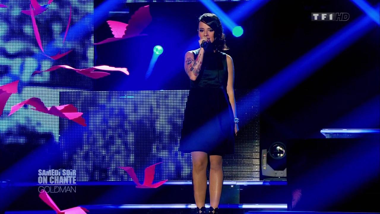 Alizée dans Samedi Soir On Chante Goldman. Diffusé à la télévision le 19/01/13.