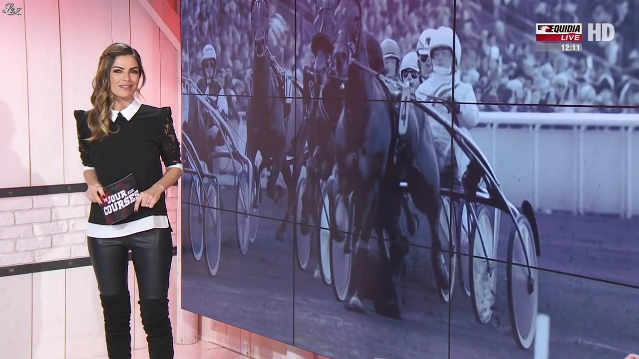 Amélie Bitoun dans un Jour aux Courses. Diffusé à la télévision le 20/12/16.
