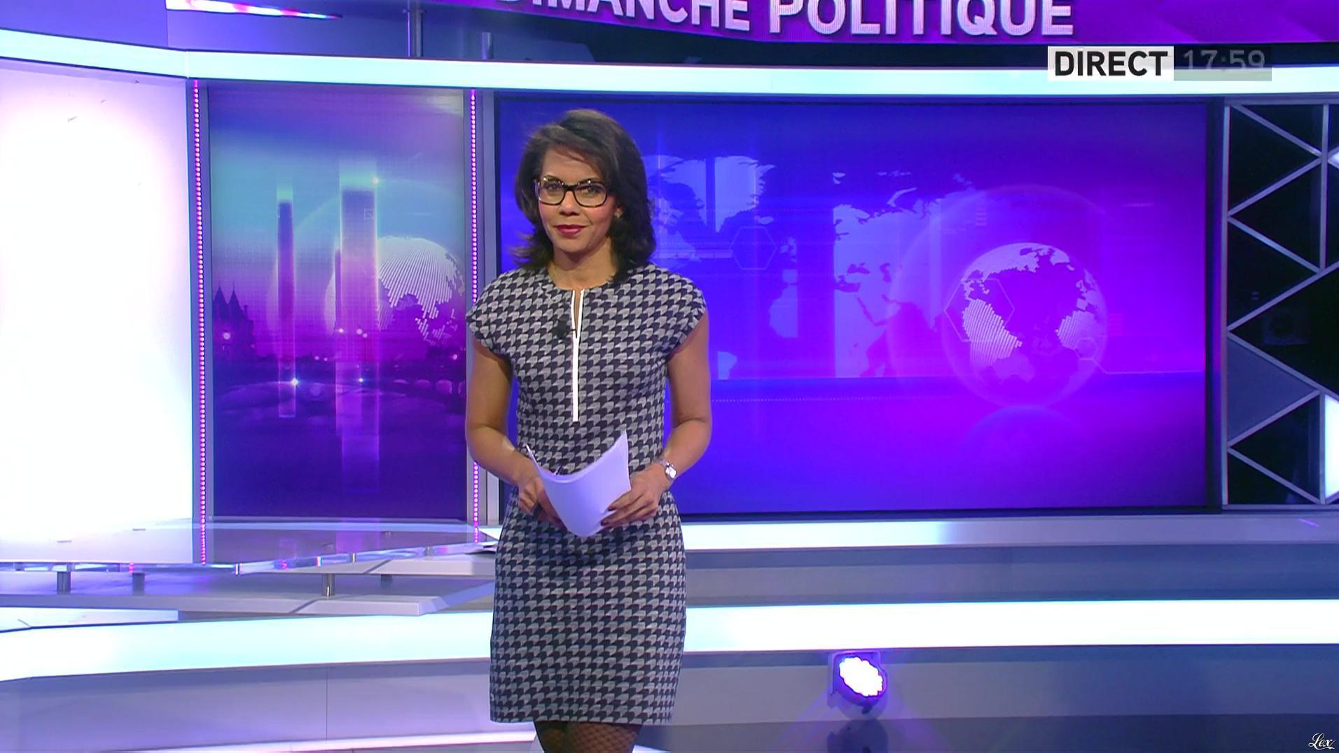 Audrey Pulvar dans Dimanche Politique. Diffusé à la télévision le 12/02/17.