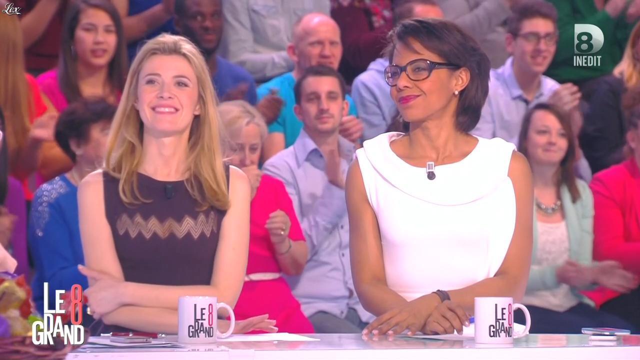 Audrey Pulvar dans le Grand 8. Diffusé à la télévision le 02/04/15.