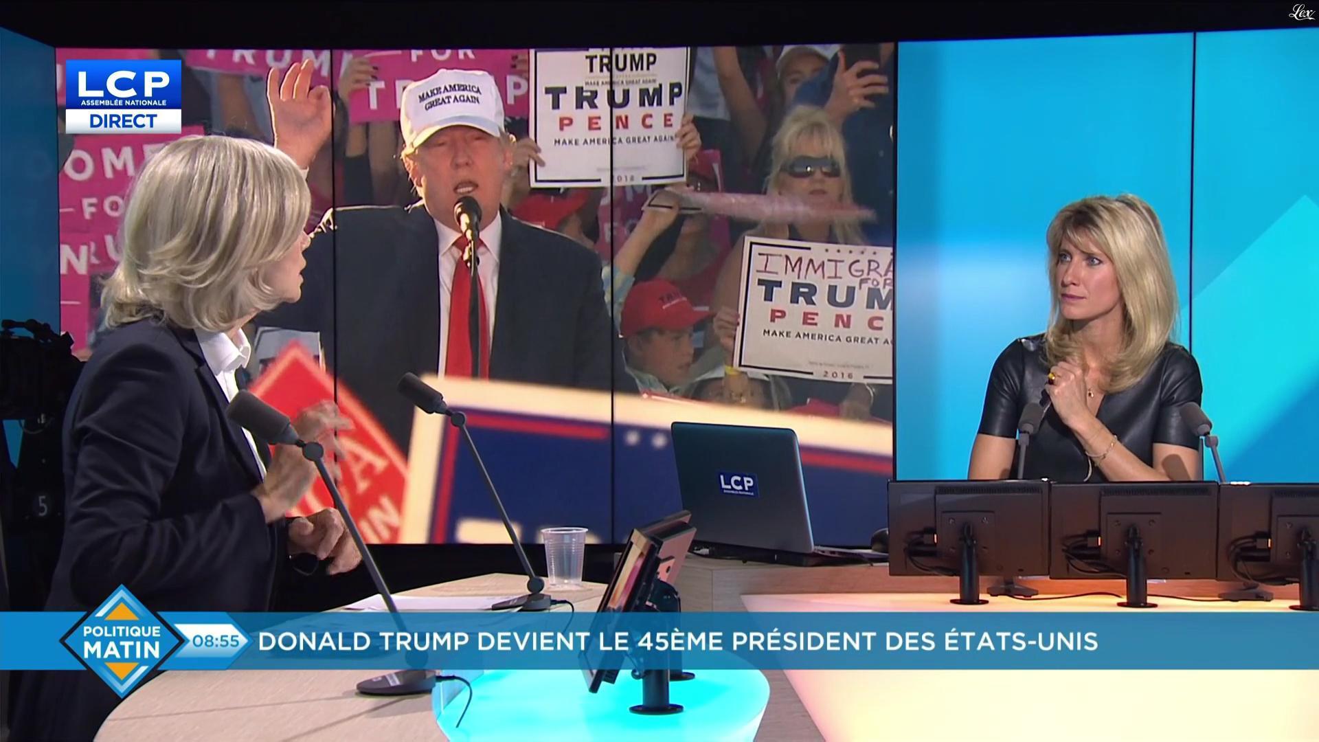Brigitte Boucher dans Politique Matin. Diffusé à la télévision le 09/11/16.