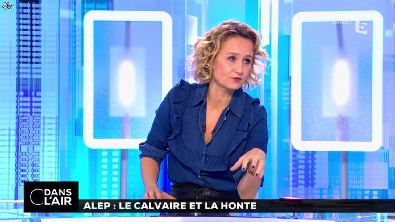 Caroline Roux dans C dans l'Air. Diffusé à la télévision le 14/12/16.