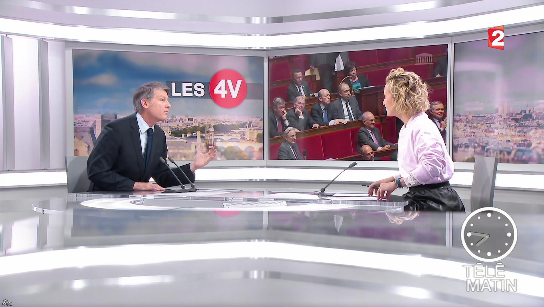 Caroline Roux dans les 4 Vérités. Diffusé à la télévision le 09/01/17.