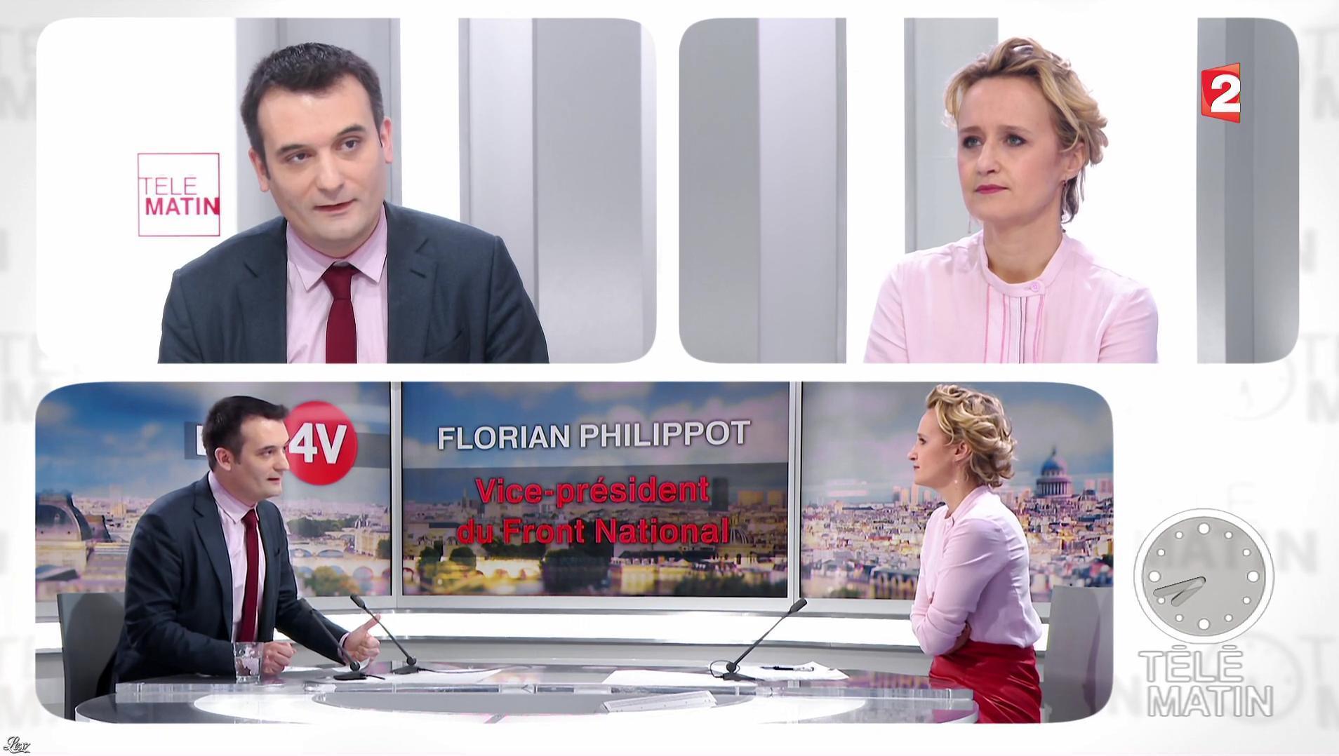 Caroline Roux dans les 4 Vérités. Diffusé à la télévision le 19/01/17.
