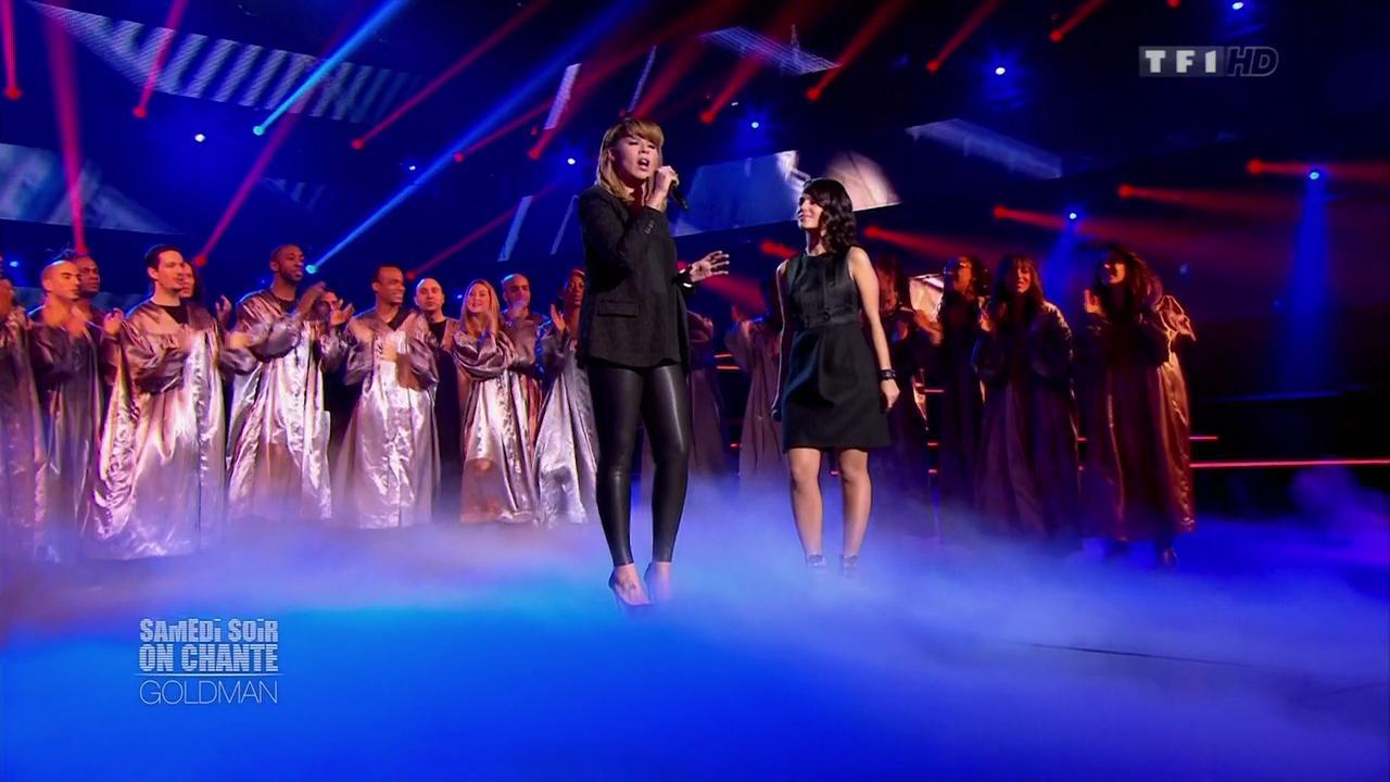 Chimène Badi et Alizée dans Samedi Soir On Chante Goldman. Diffusé à la télévision le 19/01/13.