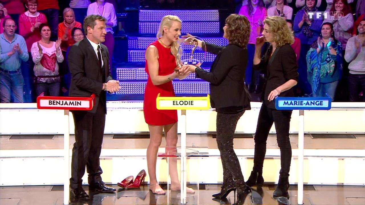 Elodie Gossuin dans le Grand Concours. Diffusé à la télévision le 16/01/16.