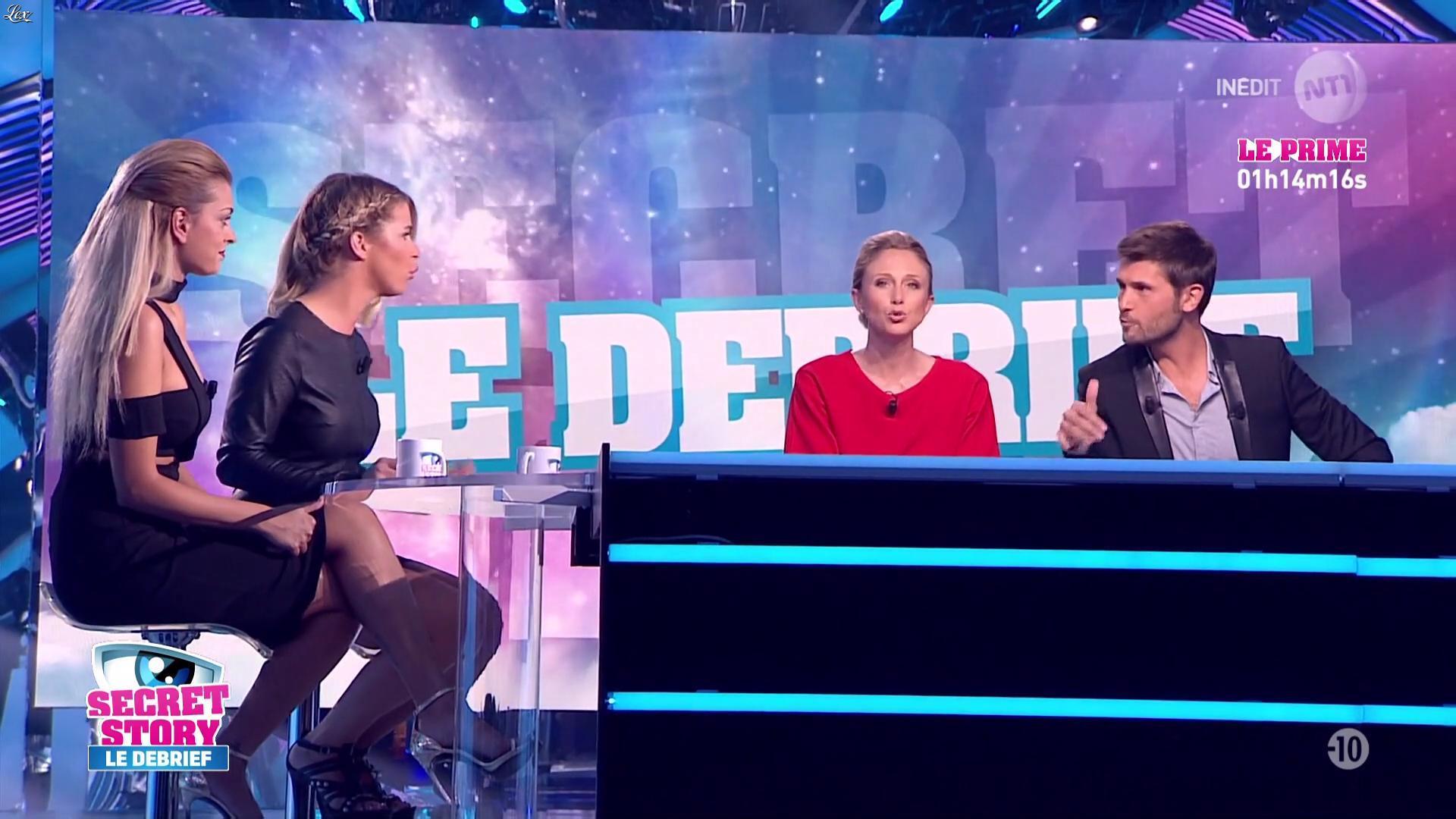 Emilie Fiorelli et Mélanie Da Cruz dans Secret Story le Debrief. Diffusé à la télévision le 08/09/16.