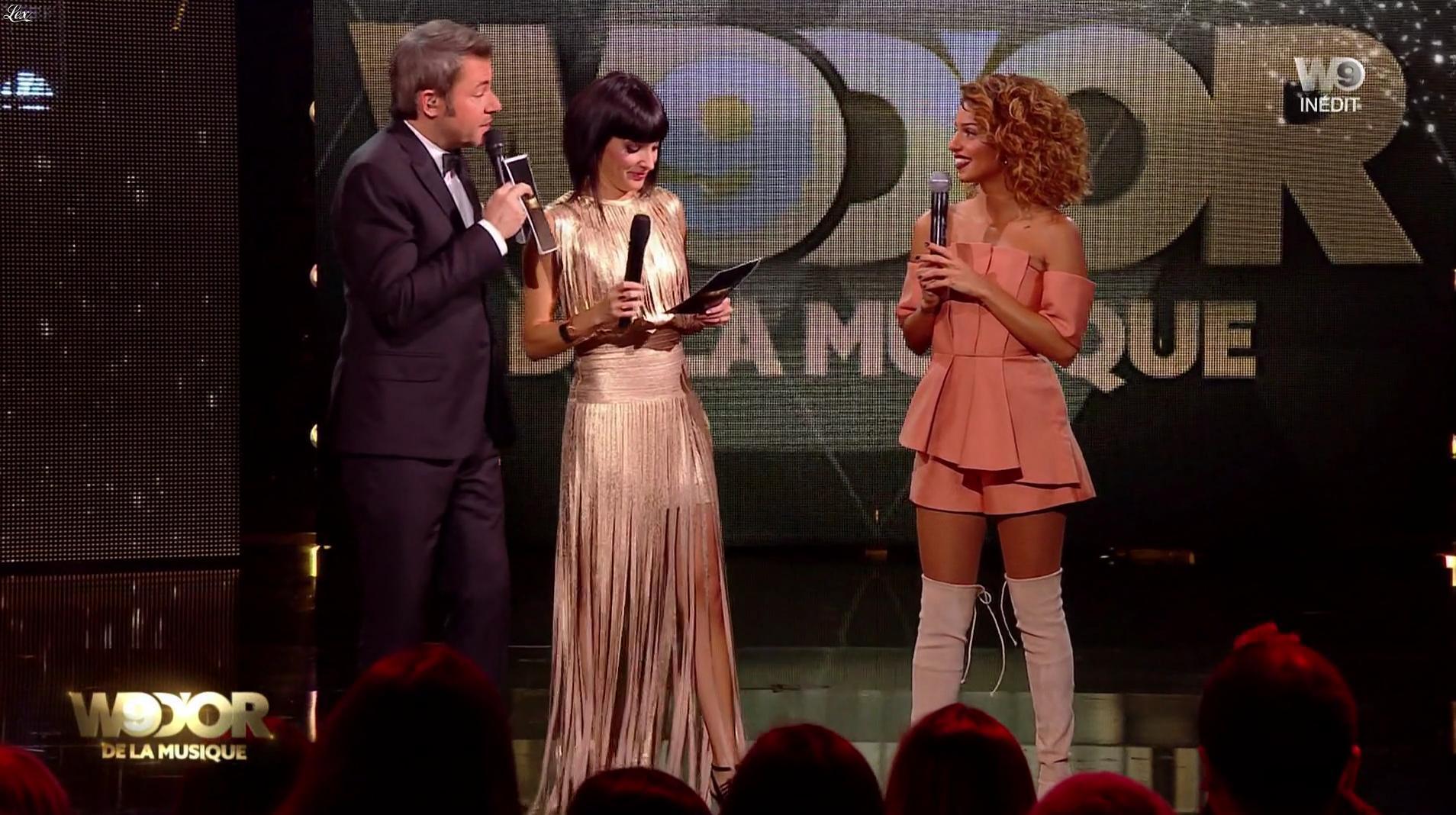 Erika Moulet et Tal lors des W9 d'Or. Diffusé à la télévision le 14/12/16.