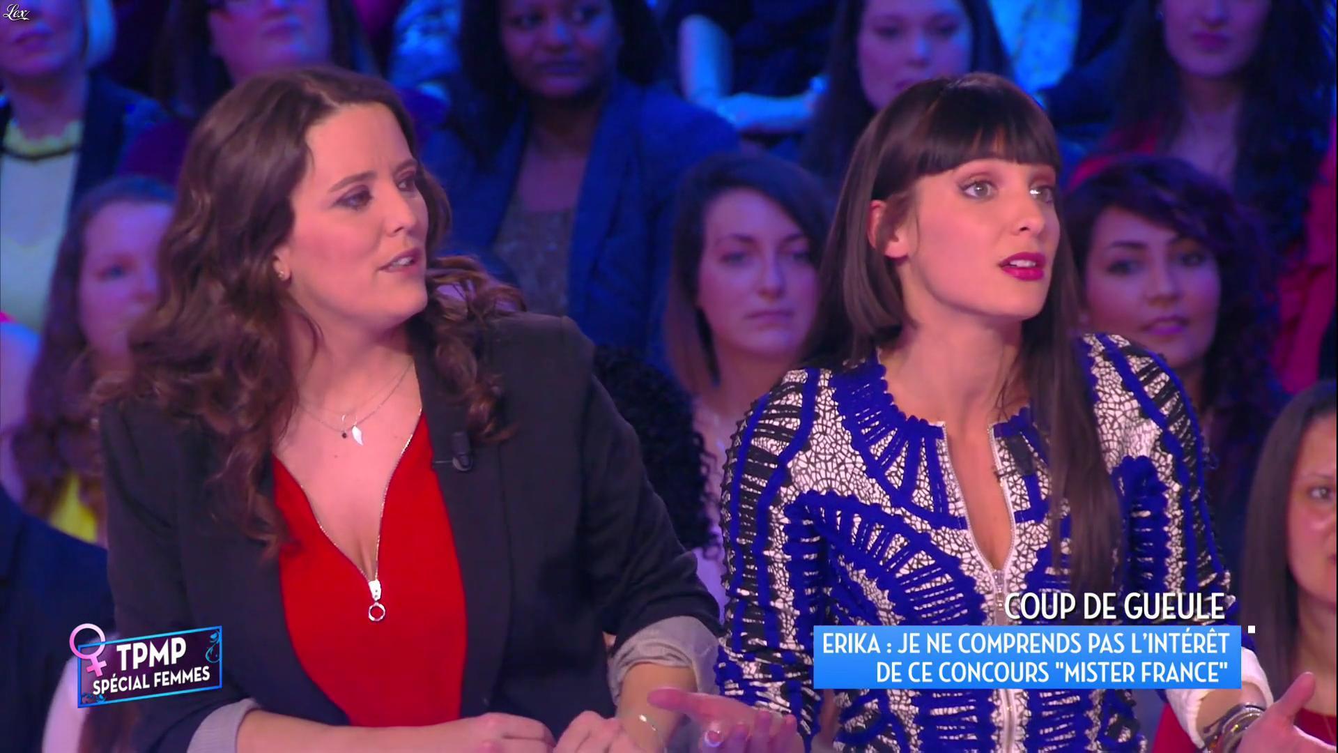 Erika Moulet dans Touche pas à mon Poste. Diffusé à la télévision le 08/03/16.