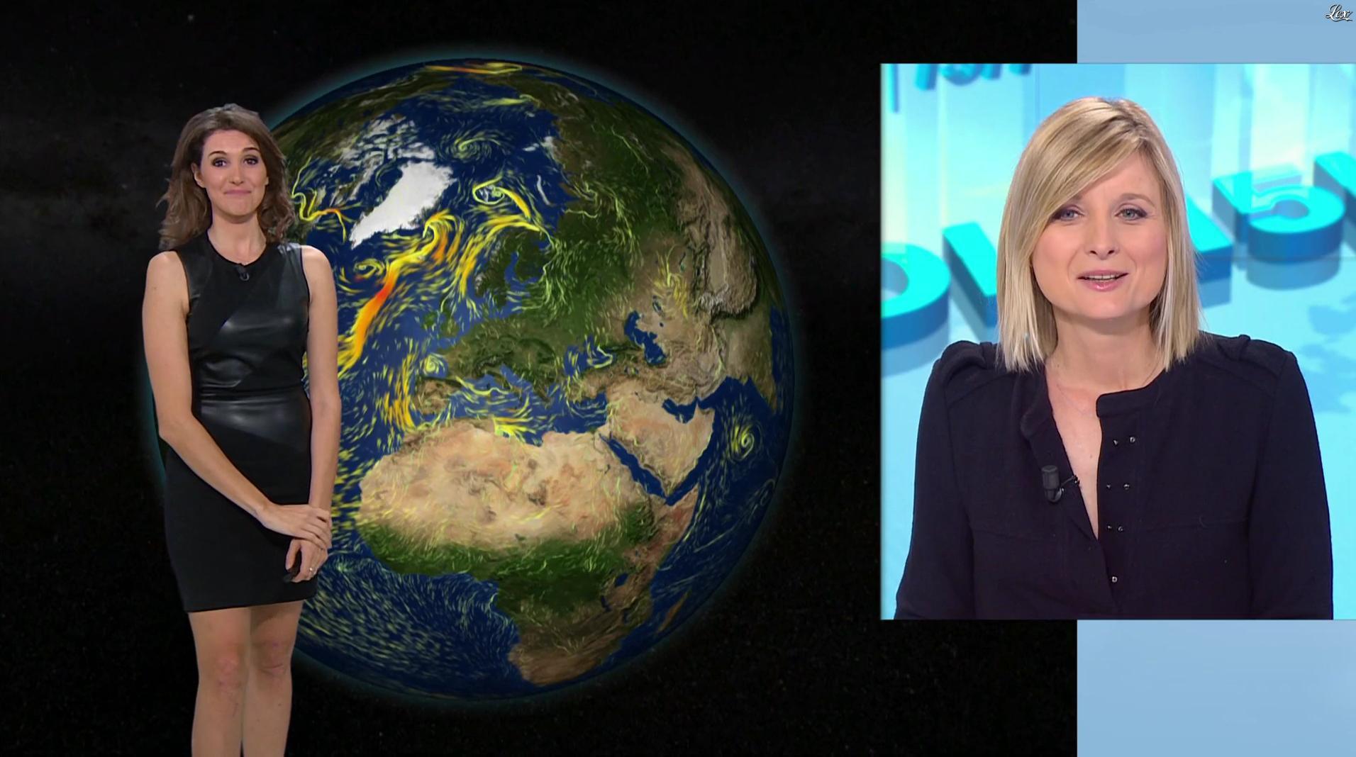 Fanny Agostini à la Météo de BFM TV. Diffusé à la télévision le 16/12/16.