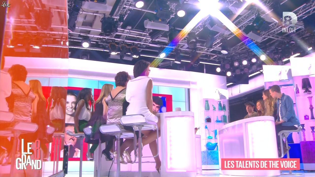 Hapsatou Sy et Audrey Pulvar dans le Grand 8. Diffusé à la télévision le 02/04/15.