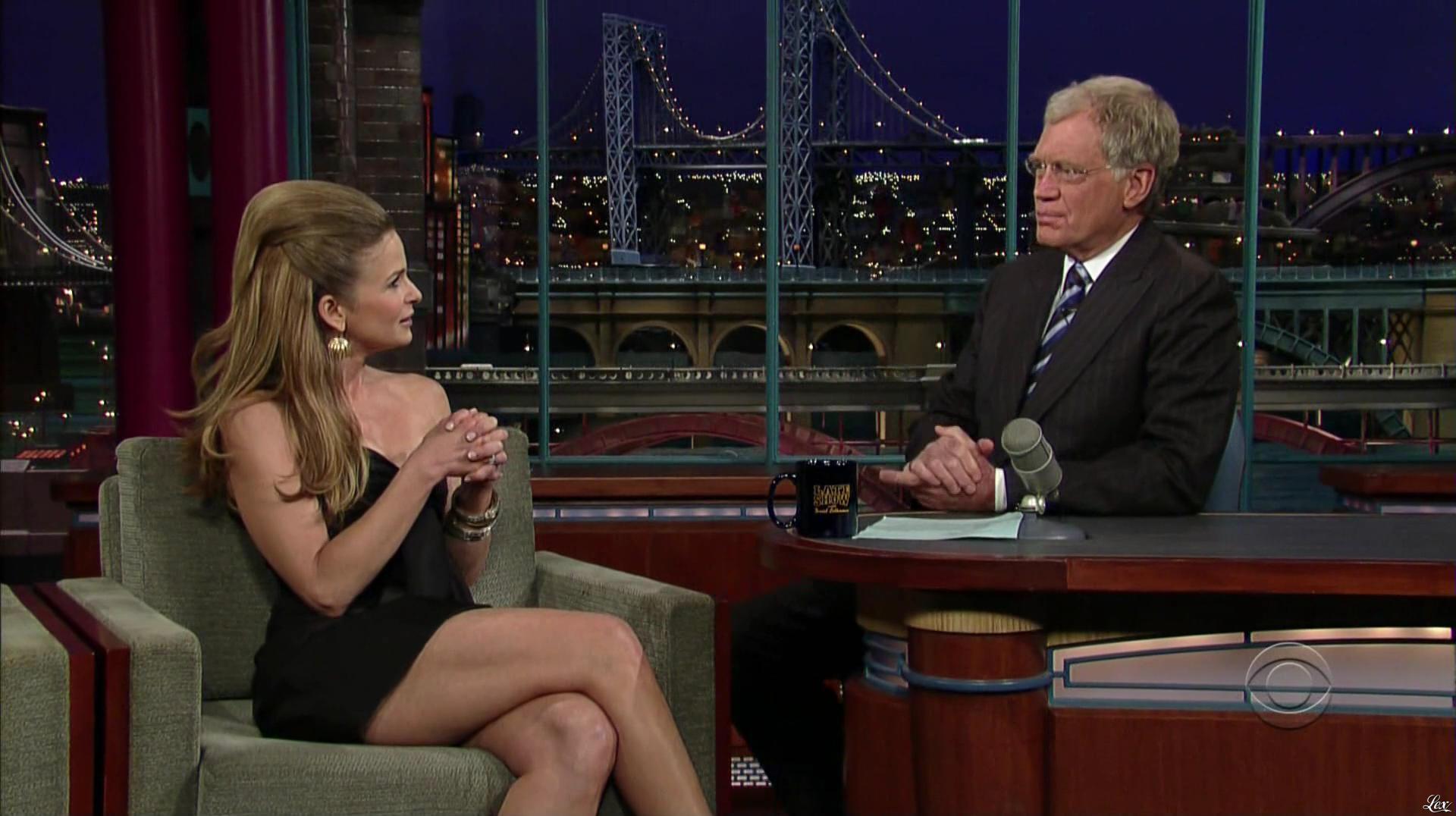 Kyra Sedgwick dans The Late Show With David Letterman. Diffusé à la télévision le 12/06/07.