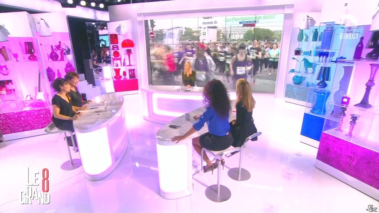 Laurence Ferrari et Aïda Touihri dans le Grand 8. Diffusé à la télévision le 14/09/15.