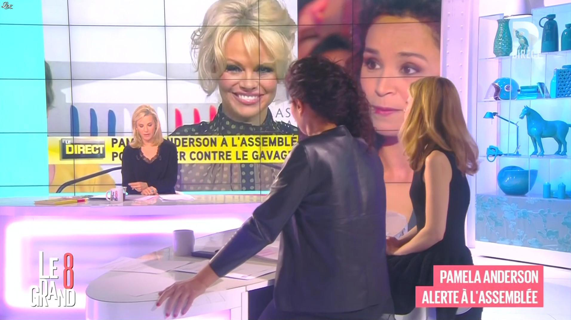 Laurence Ferrari et Aïda Touihri dans le Grand 8. Diffusé à la télévision le 20/01/16.