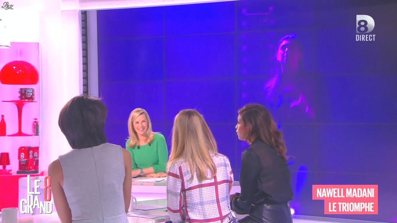 Laurence Ferrari, Audrey Pulvar et Nawell Madani dans le Grand 8. Diffusé à la télévision le 09/03/15.