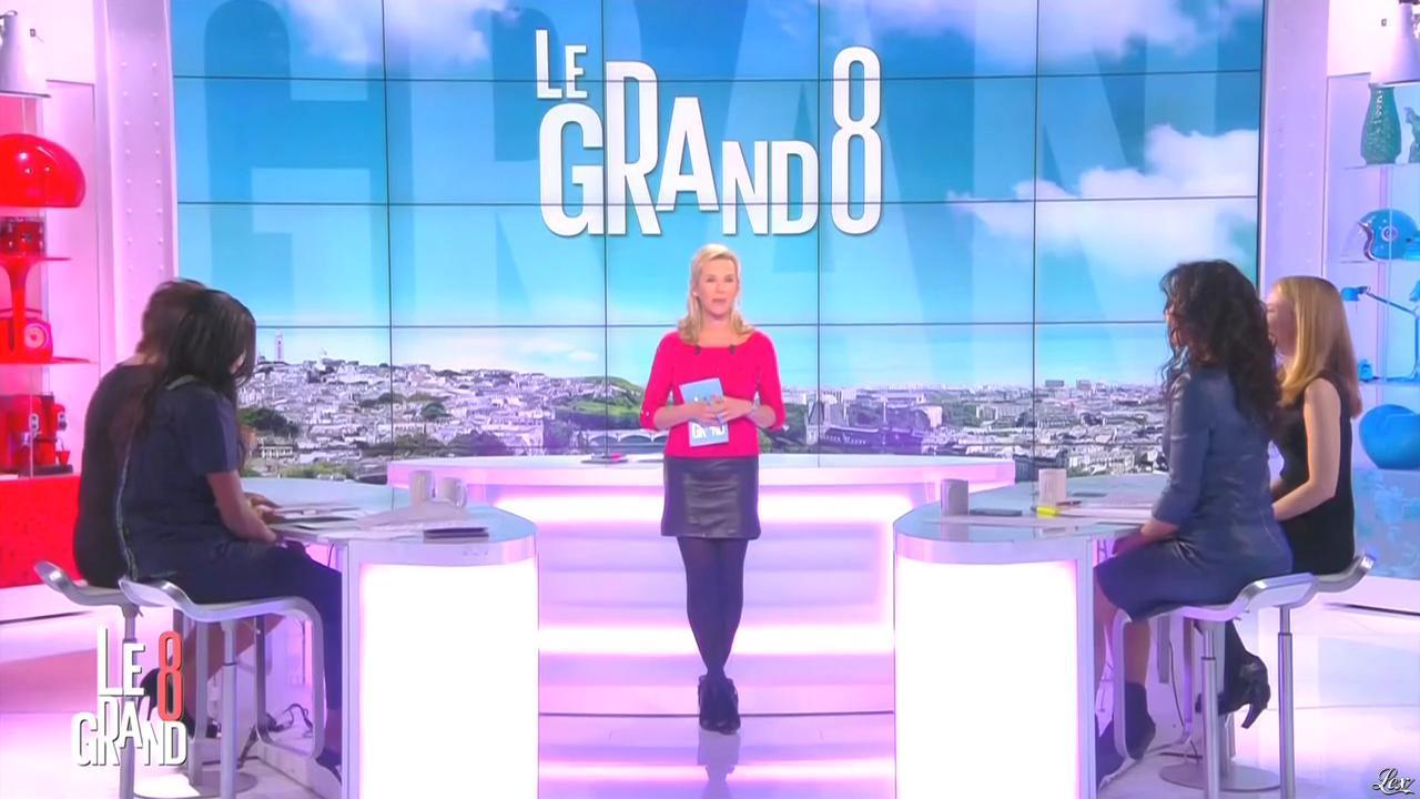 Laurence Ferrari, Hapsatou Sy et Aïda Touihri dans le Grand 8. Diffusé à la télévision le 09/03/16.