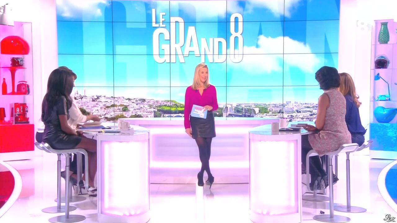 Laurence Ferrari, Hapsatou Sy et Audrey Pulvar dans le Grand 8. Diffusé à la télévision le 06/03/15.