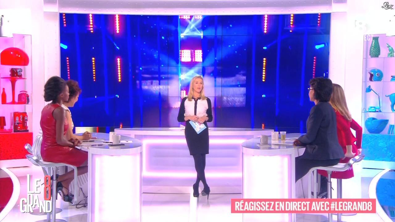 Laurence Ferrari, Hapsatou Sy et Audrey Pulvar dans le Grand 8. Diffusé à la télévision le 29/01/15.