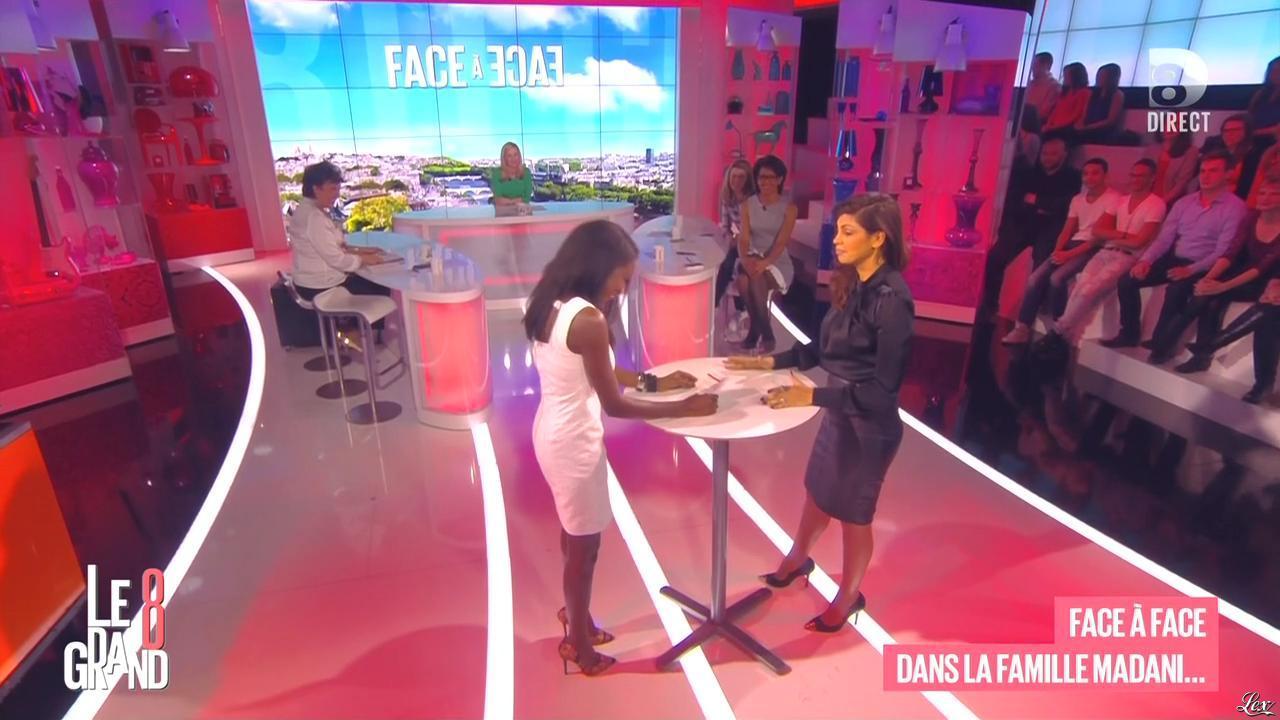 Laurence Ferrari, Hapsatou Sy, Audrey Pulvar et Nawell Madani dans le Grand 8. Diffusé à la télévision le 09/03/15.