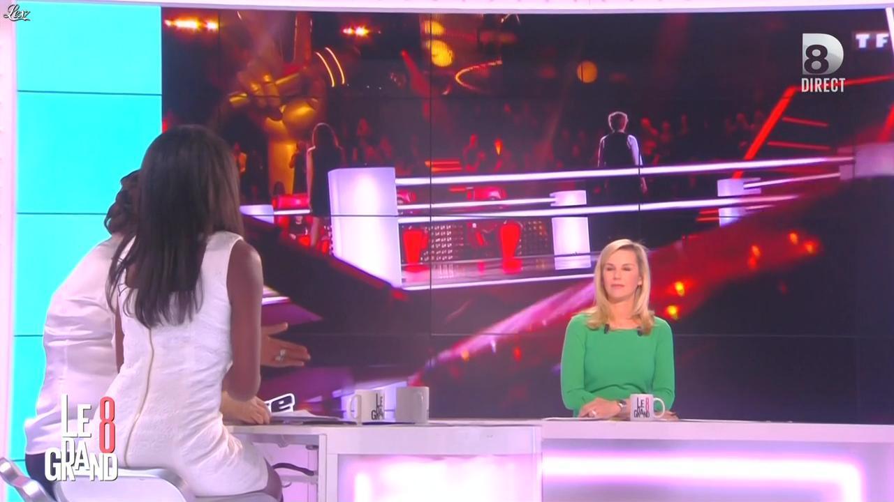 Laurence Ferrari et Hapsatou Sy dans le Grand 8. Diffusé à la télévision le 09/03/15.