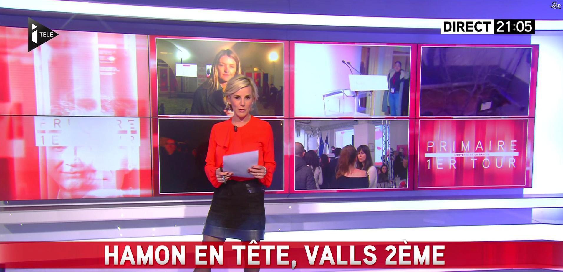 Laurence Ferrari lors des Primaires de la Gauche. Diffusé à la télévision le 22/01/17.