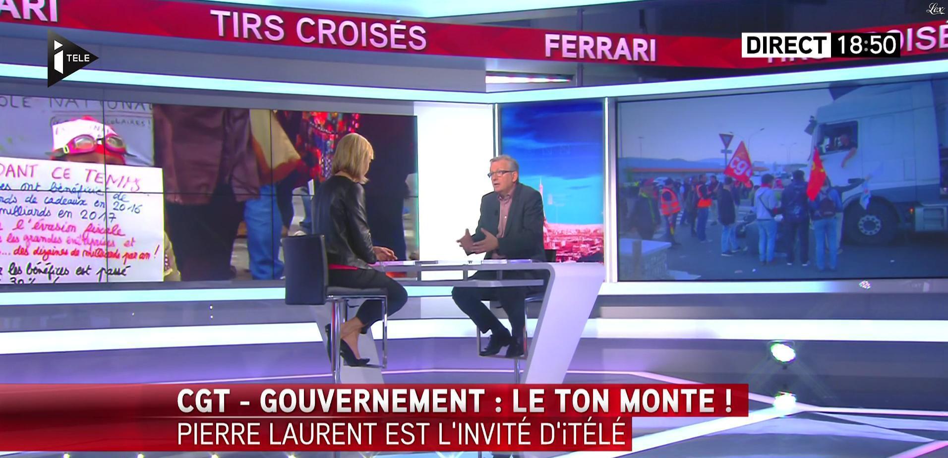 Laurence Ferrari dans Tirs Croisés. Diffusé à la télévision le 16/06/16.