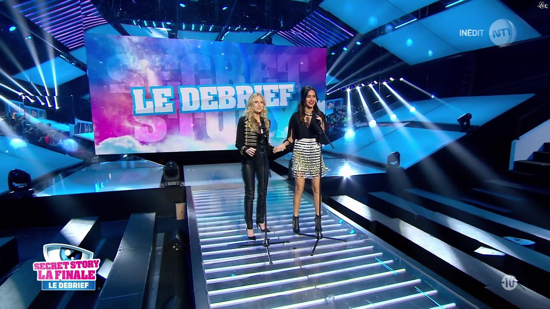 Leïla Ben Khalifa et Julie Taton dans Secret Story. Diffusé à la télévision le 14/11/16.