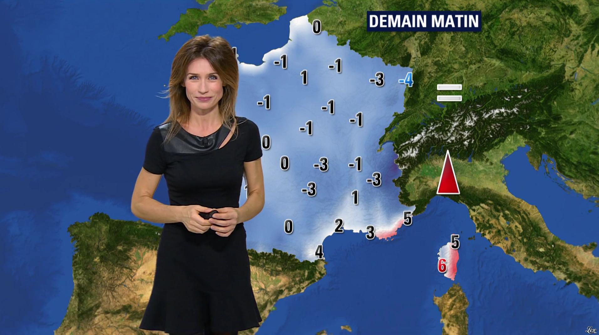 Sandra Larue à la Météo de BFM TV. Diffusé à la télévision le 04/01/17.
