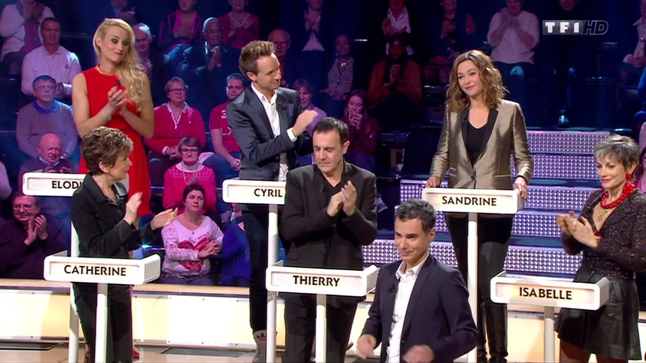 Sandrine Quétier et Elodie Gossuin dans le Grand Concours. Diffusé à la télévision le 16/01/16.