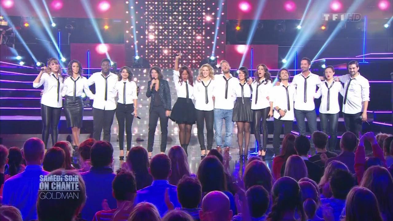 Shy m, Chimène Badi, Tal, Alizée et Natasha Saint Pier dans Samedi Soir On Chante Goldman. Diffusé à la télévision le 19/01/13.