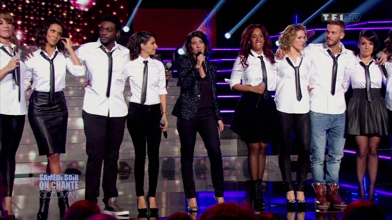 Shy m, Tal, Alizée et Lorie dans Samedi Soir On Chante Goldman. Diffusé à la télévision le 19/01/13.
