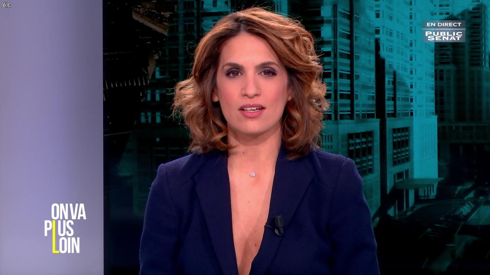 Sonia Mabrouk dans On Va Plus Loin. Diffusé à la télévision le 18/01/17.