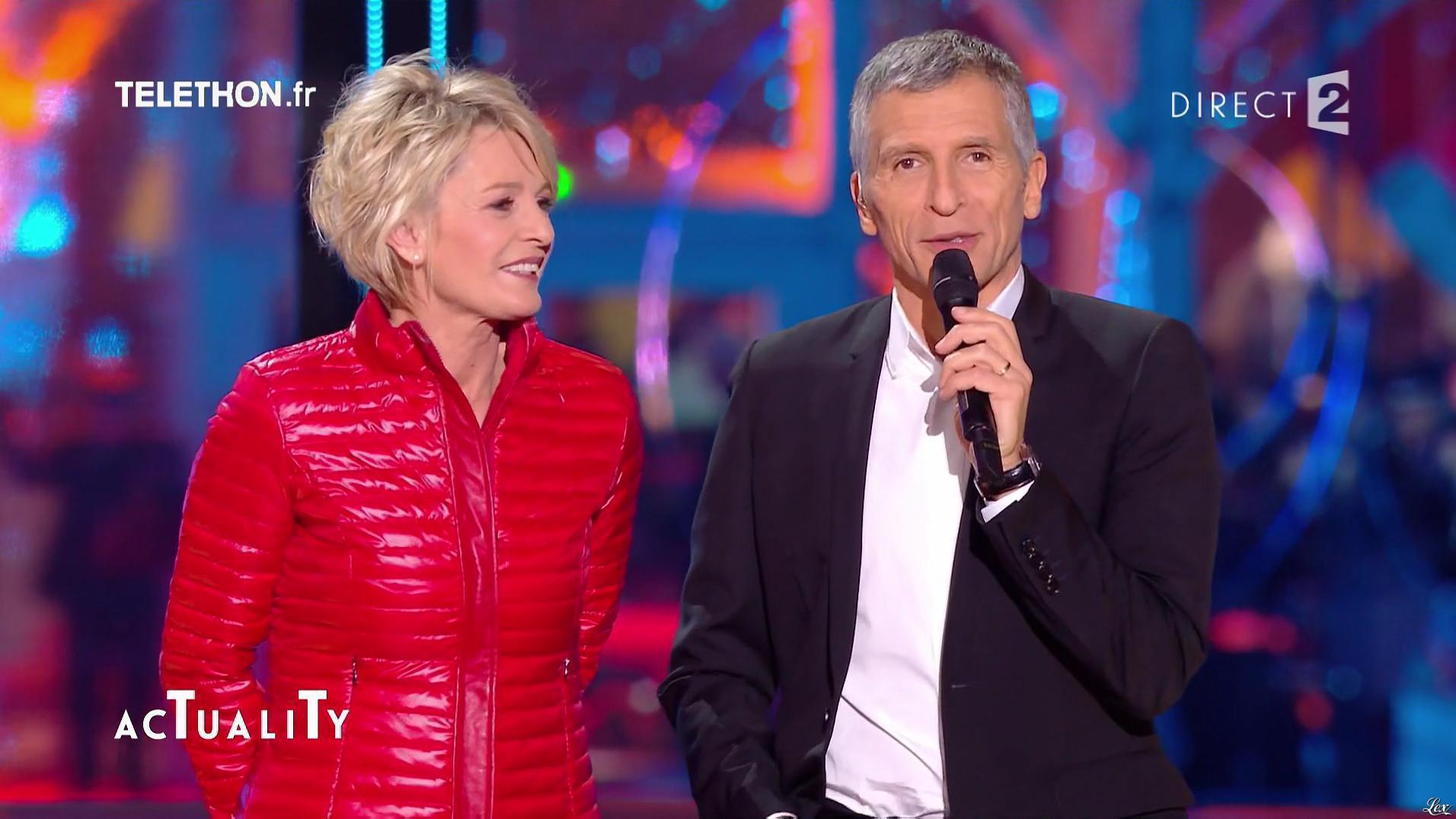 Sophie Davant lors du Téléthon. Diffusé à la télévision le 02/12/16.