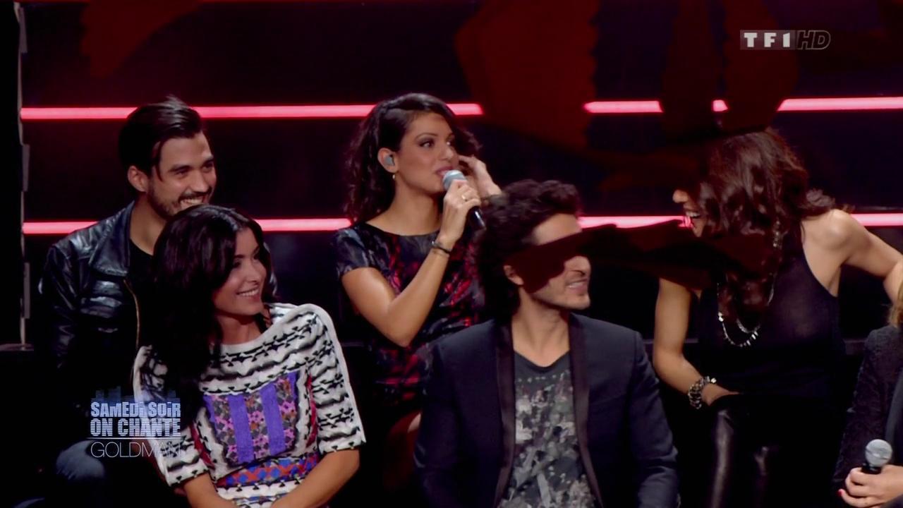 Tal, Sofia Essaidi et Jenifer Bartoli dans Samedi Soir On Chante Goldman. Diffusé à la télévision le 19/01/13.