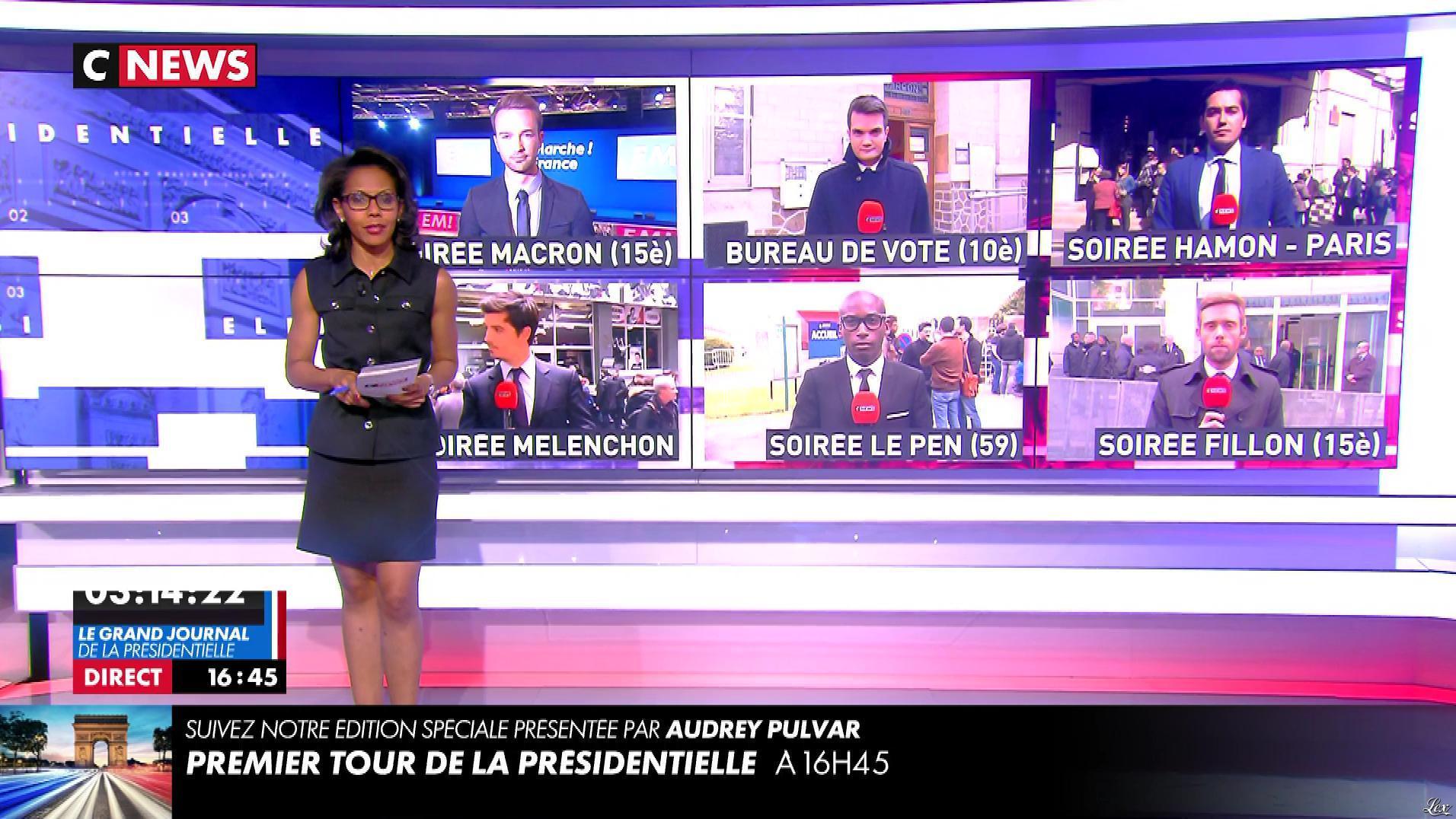 Audrey Pulvar dans C News. Diffusé à la télévision le 23/04/17.