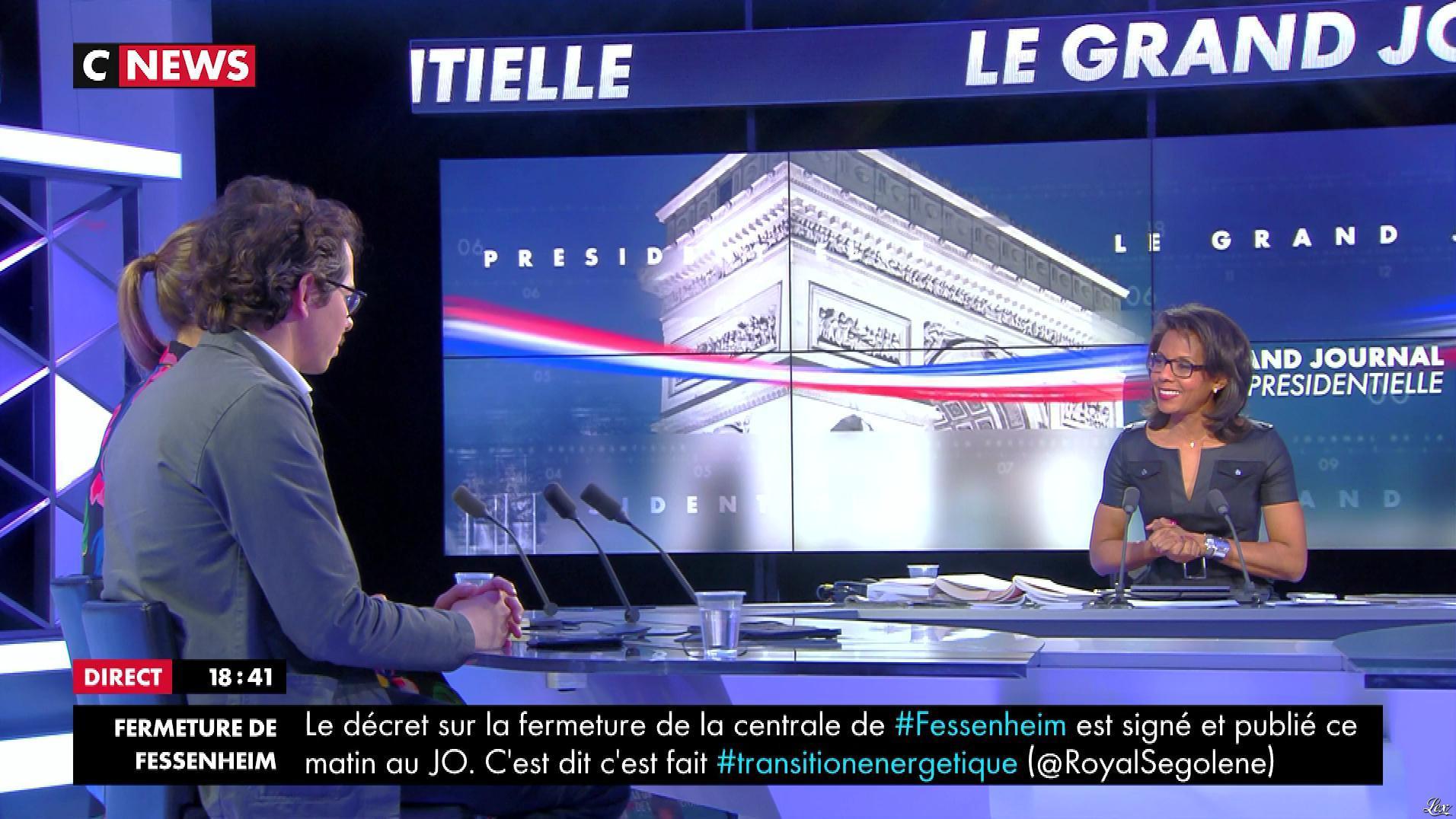 Audrey Pulvar dans Dimanche Politique. Diffusé à la télévision le 09/04/17.