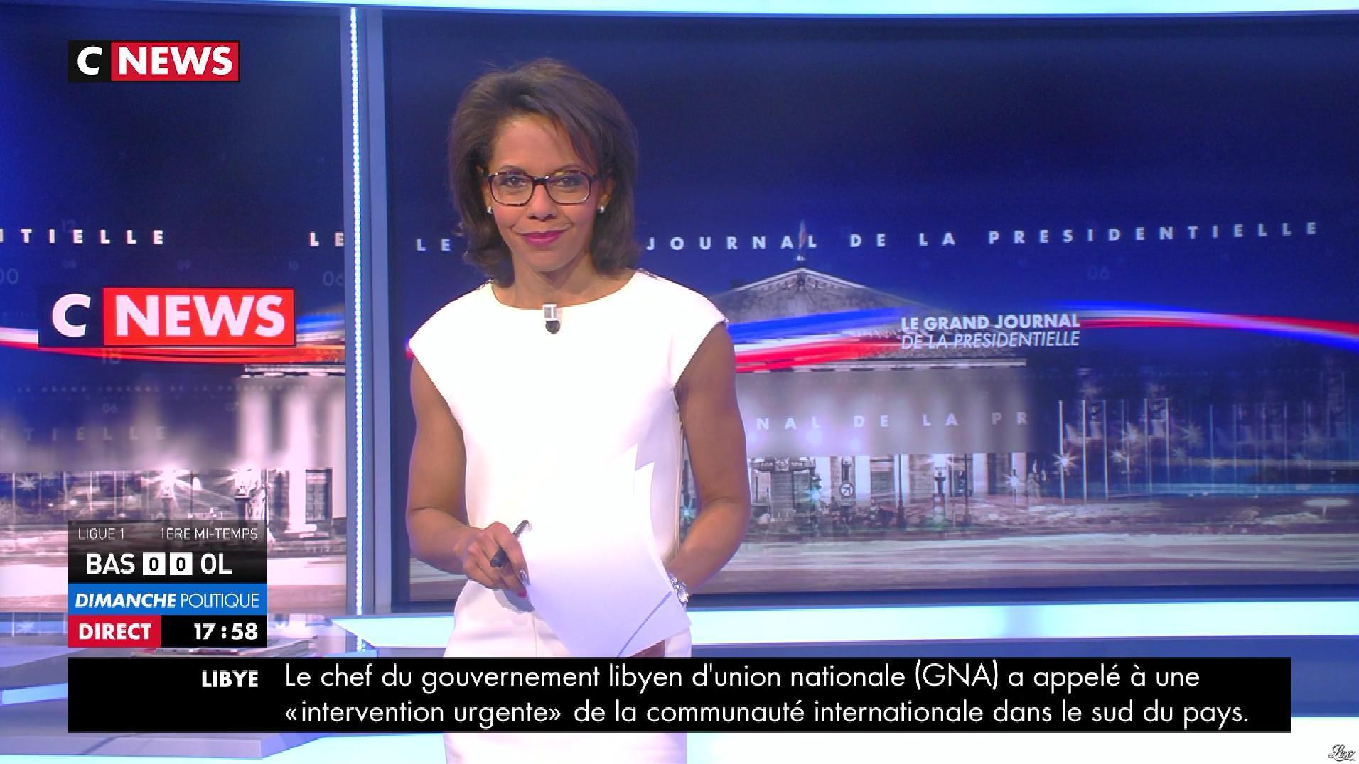 Audrey Pulvar dans Dimanche Politique. Diffusé à la télévision le 16/04/17.
